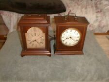 New Listing2 Early Vintage Wooden Mantle Clocks