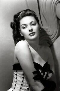 Yvonne De Carlo classic publicity photo ca.1940's - reprint - multiple sizes:703