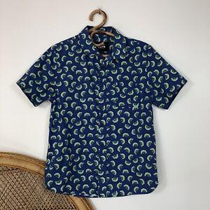 Native Youth Shirt Short Sleeve Size S Mens Green Kiwifruit Novelty Fruit Print