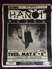 HANOI ROCKS 1984 Canadian Tour Poster Vancouver BC ( Shadow PEARL JAM McCready )