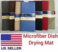 "Bulkshopmarket Microfiber Dish Drying Mat 12"" x 18""Home Collection Colors"