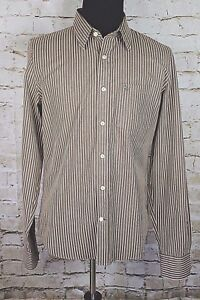 Abercrombie Fitch Muscle Men's 2XL Striped Long Sleeve Button Front Shirt