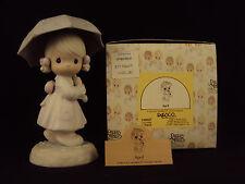 Precious Moments, 110027, April (Calendar Girl), Flower Mark, Issued 1987