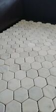 CALACATTA TUMBLED WHITE MARBLE HEXAGON Mosaic Wall&Floor Tiles 31x31(MM) SAMPLE