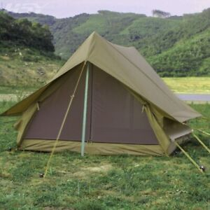 Outdoor Camping Tent 2 Person Military Tent Survival Bushcraft Waterproof Green