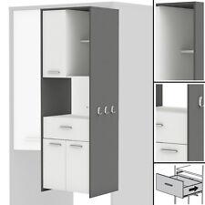 Hochschrank COUSINE 817 Küchenschrank Küchenregal Buffetschrank wei�Ÿ grau