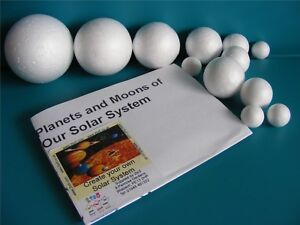 MAKE YOUR OWN SOLAR SYSTEM Homework Project Kit 12 Poly Balls 2 to 7cm Diameter