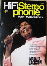 HIFI stereophonie 4/72 Mahalia Jackson, ONKYO 732, Crown d-150, SHURE DM 101 M-G