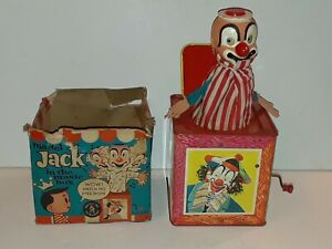 Vintage Mattel Jack In The Box Clown 1961. NON Working Condition Tin Litho