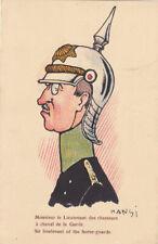 Guerre 14-18 WW1 Caricature  anti kaiser HANSI Lietenant des chasseurs