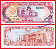 DOMINICAN REPUBLIC DOMINICANA 1000 Pesos 1998 Low number Pick 158c SC / UNC