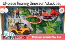 21-piece Kids DINOSAUR ATTACK SET Jurassic World T-Rex Dino Eggs LIGHTS + SOUNDS