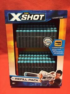 Zuru X-Shot 100 Soft Darts Refill Pack Sealed Compatible With All Major Brands