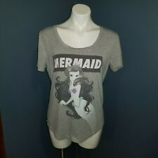 New ListingDisney The Little Mermaid Scoop Neck Short Sleeve Tee T Shirt Women's Sz. Medium