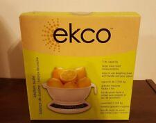EKCO 2 Piece kitchen scale & bowl 5 lb capacity - USED