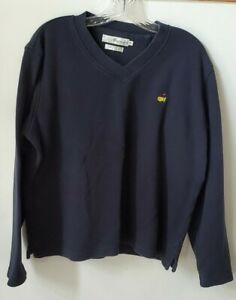 MAGNOLIA LANE The MASTERS navy blue Women's  Pullover V Neck Sweatshirt size XL