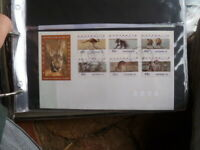 1995 SET COUNTER PRINTED STAMPS AUSTRAPEX & POSTMARK  first day COVER
