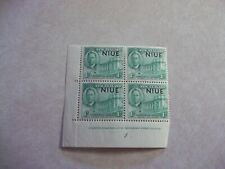 NIUE Cook Islands Stamps SG 98 Scott 90 PLATE BLOCK OG Hinged