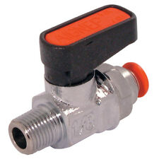 AIR-PRO/AIGNEP VALVES - MINI BALL VALVE WITH 8MM PUSH-IN-1/4-M 7-01585