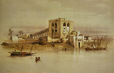"""Aquaduct of the Nile River Egypt Painting Large 11.5"""" x 18""""Real Canvas Art Print"""