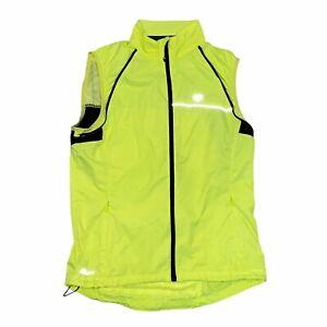 Women's PEARL IZUMI  Neon Yellow Hi Vis Elite Barrier Medium,Bicycle Vest