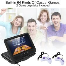 "Portable 9"" DVD Player With 270° Swivel Screen Bulit-in 64Games support US"