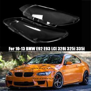 Left & Right Car Headlight Lens For 10-13 BMW E92 E93 LCI 328i 325i 335i 3.0L