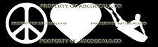 PEACE LOVE SURF BODY BOARD BOOGIE Vinyl Wall Sticker Car Bumper Window Decal