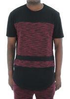 Akademiks Men's Spirit Fly Knit Blocked Longline T Shirt
