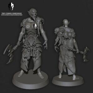Dark Kin Wracked Warrior Female Leader Resin Coven wracks drukhari dark eldar