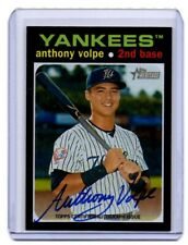 2020 TOPPS HERITAGE MINOR LEAGUE ANTHONY VOLPE ON CARD Autograph NY YANKEES