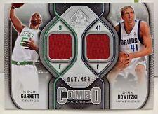 Dirk Nowitzki / Kevin Garnett 2009-10 SP Game Used Combo Dual GU Jersey #'d/499