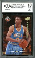 2008-09 UD Electric Court Gold #262 Russell Westbrook Rookie BGS BCCG 10 Mint