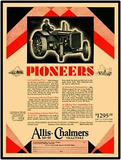"""Allis Chalmers 20-35 Tractor Vintage Look 9"""" x 12"""" Reproduction Aluminum Sign"""
