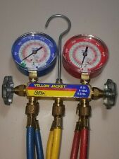 Yellow Jacket Test And Charging Manifold W/ Hoses R-22 R-410A R-404A