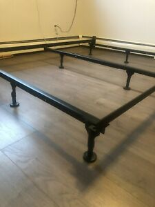 Brand New IKEA Black Metal Adjustable King/Queen Size Bed Frame
