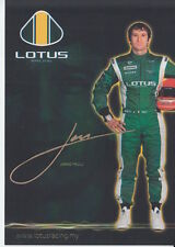 Jarno Trulli Lotus F1 Promo Card Formula 1 Rare.