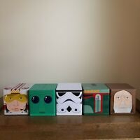 5 Cubeez Star Wars LOT Boba Fett Storm Trooper Luke Skywalker Obi Wan Hallmark