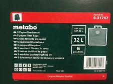 f ASA 25 L PC ASA 30 L PC Inox 630296 METABO 5 x Vlies-Filterbeutel 25//30 l