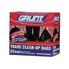 Grunt TRADE CLEAN UP 158L Single, 24Pcs, Biodegradable BLACK *Australian Brand