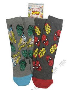 Boys Character Socks Marvel Avengers, Spiderman, Ironman, Hulk, Christmas Gift