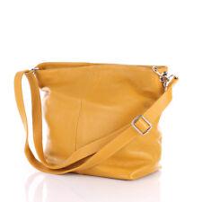 Shopper Schulter Umhänge Hand Tasche Italy Leder Gelb Crossover Bag Börse Pelle*