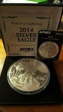 2014 Proof Silver Eagle .999 fine silver 4 troy ounces - Unusual size!