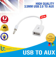 Male Cable Plug Aux Jack 3.5mm Audio to Usb 2.0 Female Converter Cord Play Mp3