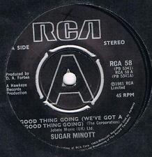 SUGAR MINOTT Good thing going / Hung up RCA 58 classic reggae from 1981