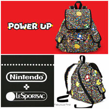 LeSportsac Nintendo Power Up Burst Voyager Backpack Super Mario Free Ship NWT