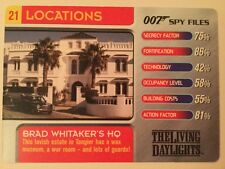 Brad Whitaker's HQ Living Daylights #21 Locations 007 James Bond Spy Files Card