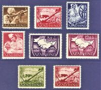 DR Nazi AZAD HIND 3rd Reich AZAD HIND Rare STAMPs 1943 Legion Free India Set