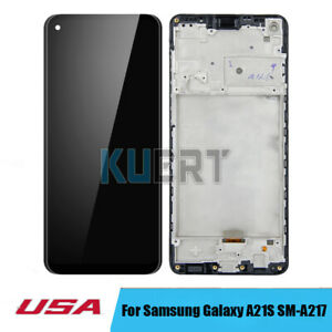 For Samsung Galaxy A21S SM-A217F/DS SM-A217M/DS LCD Touch Screen Ditigizer Frame