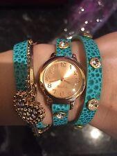 Diamanté Double Strap Bracelet Watch, nice gift  present xmas BRAND NEW!